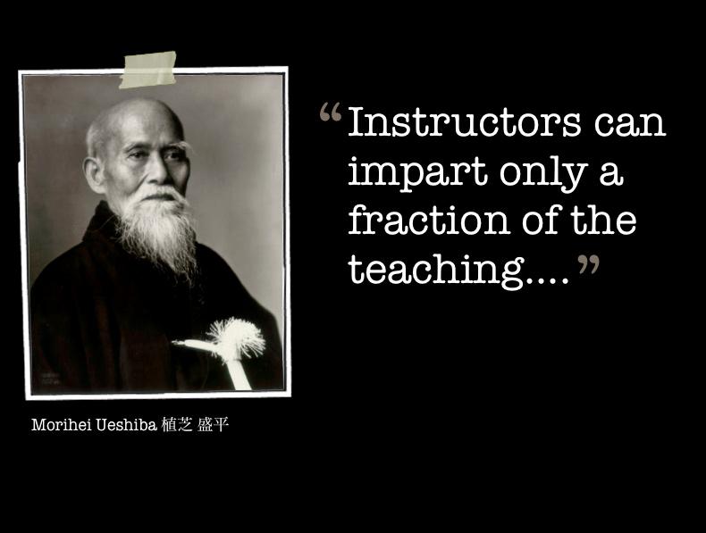 Savoir se satisfaire de ne transmettre qu'une partie du savoir